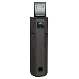 Pyle Bluetooth 600 Watt 2.1 Channel Digital Home Theater Tower with iPod, iPad, iPhone Docking Station, FM Radio & Alarm Clock