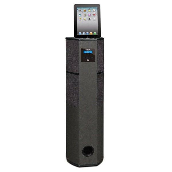 Pyle Bluetooth 600 Watt 2.1 Channel Digital Home Theater Tower with iPod, iPad, iPhone Docking Station, FM Radio & Alarm Clock