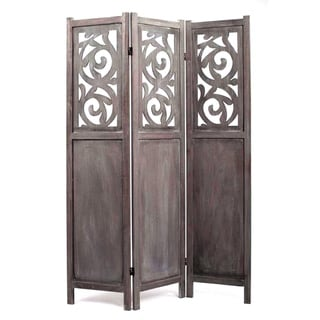 Recoiled 3-Panel Wooden Screen (China)