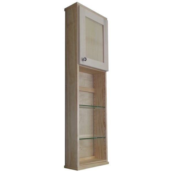 Shaker Series 48-inch 4-shelf Glass/ Wood Wall Cabinet