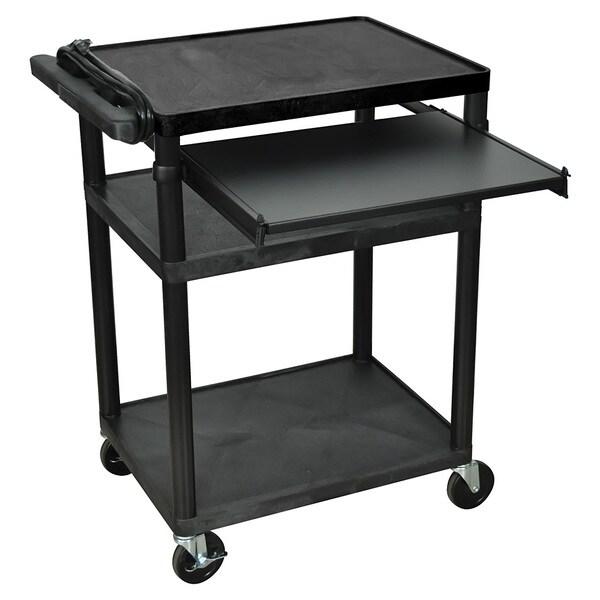 Mobile 3 Shelf Presentation Storage AV Cart