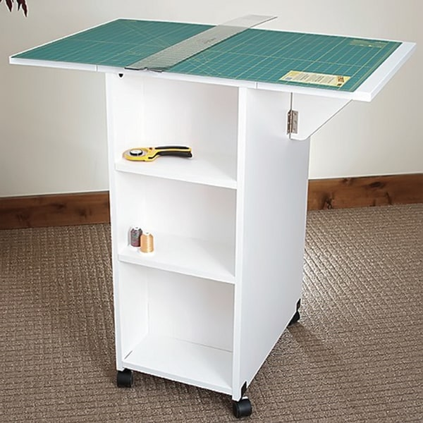 Sewing Rite White Model 95c Cutting/ Craft Table with 5 Storage Drawers