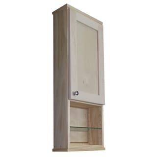 Shaker Series 30-inch Natural Finish 12-inch Open Shelf On The Wall Cabinet