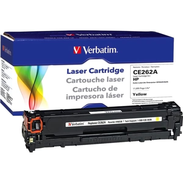Verbatim HP CE262A Yellow Remanufactured Laser Toner Cartridge