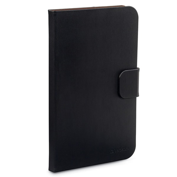 "Verbatim Folio Carrying Case for 10.1"" Tablet- Black"