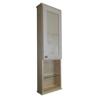 Shaker Series 42-inch Natural Finish 5.5-inch Deep Inside Open Shelf On The Wall Cabinet