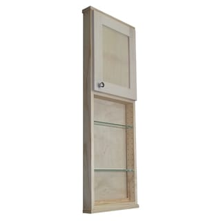 Shaker Series 42-inch Natural Finish 3.5-inch Deep Inside 24-inch Open Shelf On The Wall Cabinet