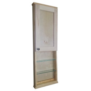 Shaker Series 42-inch Natural Finish 3.5-inch Deep Inside Open Shelf On The Wall Cabinet