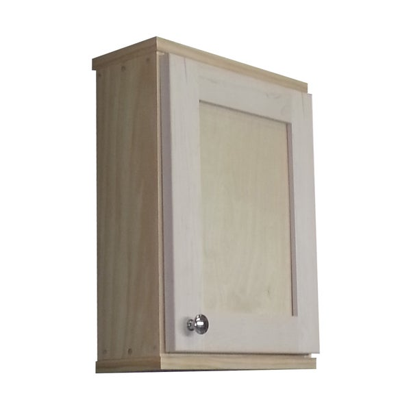 Shaker series 18 inch unfinished 5 5 inch deep inside on for Kitchen cabinets 18 inches deep