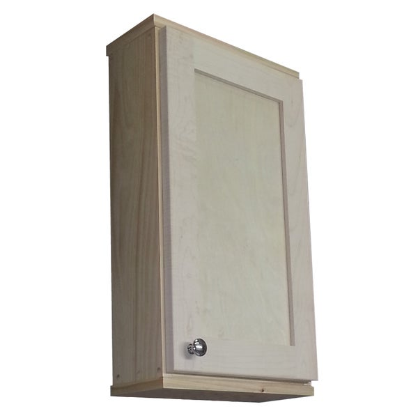 Shaker Series 24 Inch Natural Finish 5 5 Inch Deep Inside On The Wall Cabinet 15516401