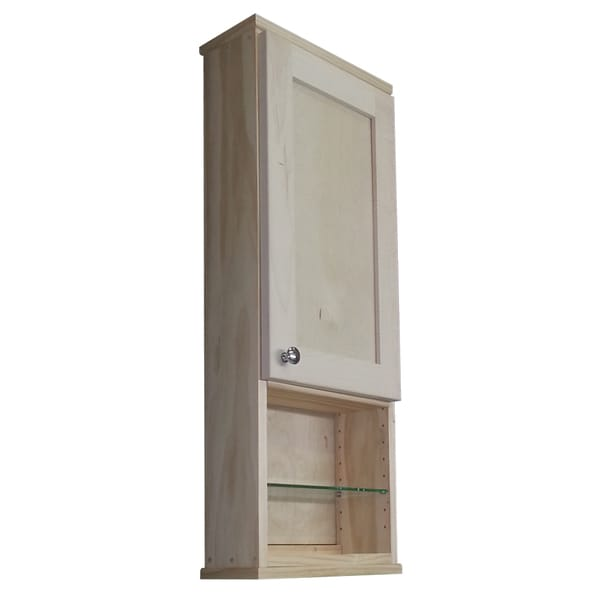 Shaker series 30 inch natural finish 5 5 inch deep shelf for 30 inch deep kitchen cabinets