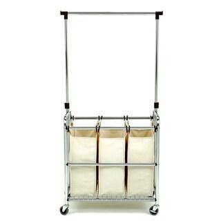 Seville Classics 3-bag Laundry Sorter Cart