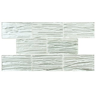 SomerTile Arbor Subway White Glass Mosaic Tile (Case of 80)