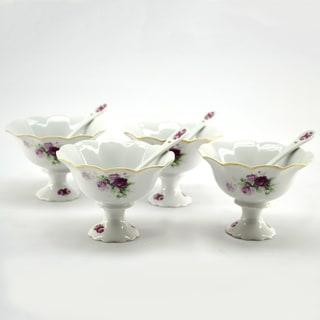 4-piece Ice Cream Cup/ Spoon