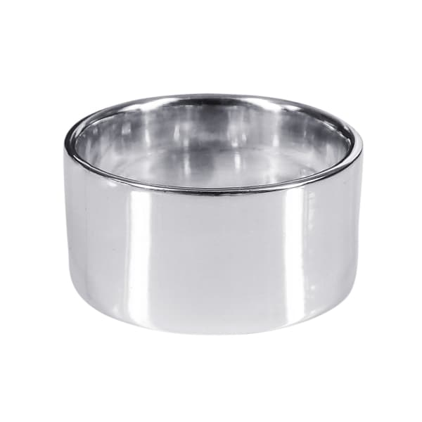 10mm Wide Plain Band .925 Sterling Silver Ring (Thailand)