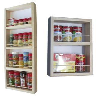 On the Wall Dual Depth Spice Rack Set 28/14