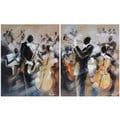 Dominic Lecavalier 'Symphony' Hand-painted Canvas Art (Set of 2)