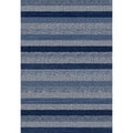 Eternity Striped Blue Rug (5'3 x 7'7)