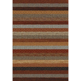 Eternity Striped Multi-colored Rug (5'3 x 7'7)