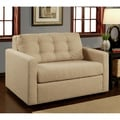 Abbyson Living Baxton Tufted Fabric Convertible Armchair Twin Bed
