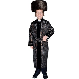 Boys Black Rabbi Coat