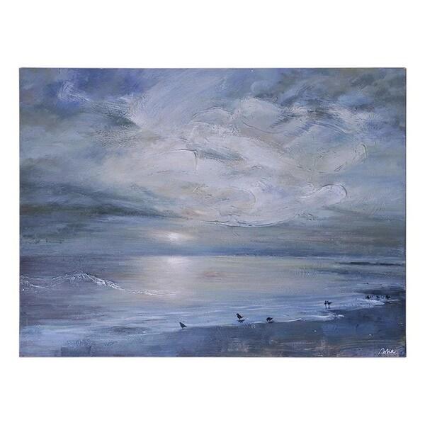 Mia Archer 'Ocean Song' Hand-painted Canvas Art