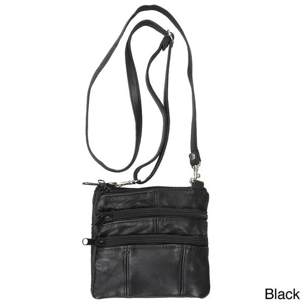 Journee Collection Women's Black Leather Mini Travel Purse