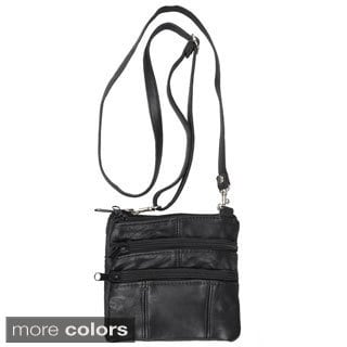 Journee Collection Women's Black Leather Mini Travel Purse
