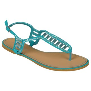 Madden Girl by Steve Madden Womens Jeweled T-strap Sandals