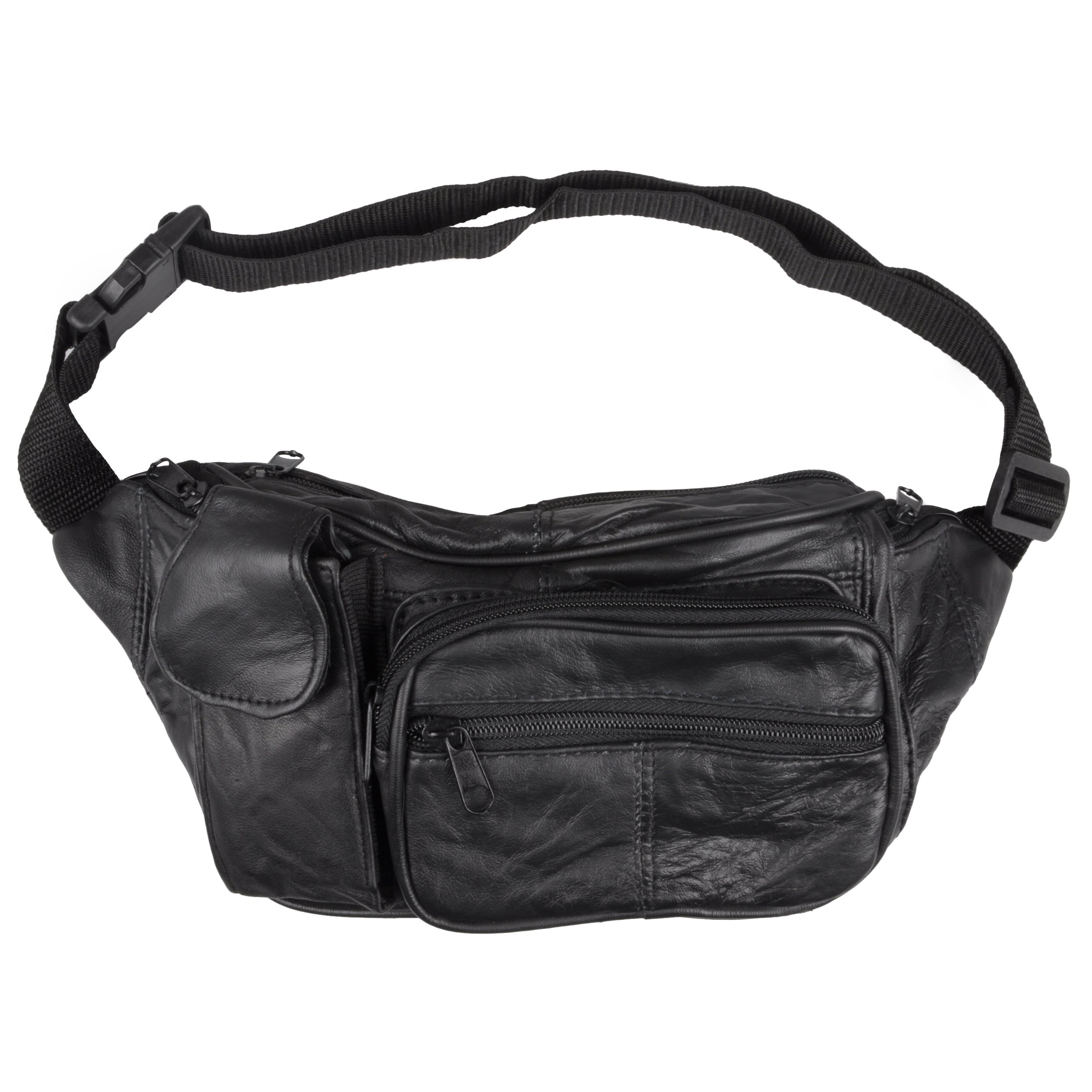 Journee Collection Women's Black Leather Fanny Pack at Sears.com