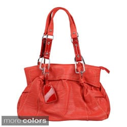 Journee Collection Women's Slouchy Metal Accent Satchel Handbag