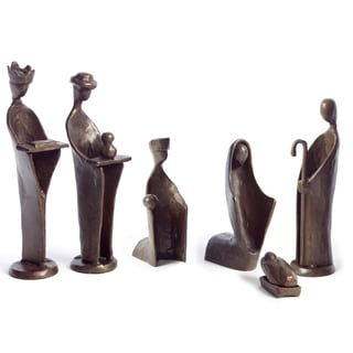 Nativity 6-Piece Bronze Set Sculpture
