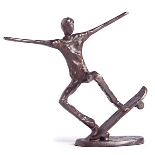 Dynamic Skateboarder Bronze Sculpture