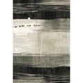 Eternity Waves Silver/ Black Rug (5'3 x 7'7)