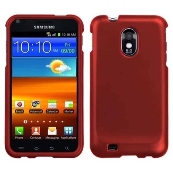 INSTEN Titanium Solid Red Phone Case Cover for Samsung Epic 4G Touch/ Galaxy S2