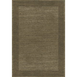 Eternity Bordered Taupe Rug (5'3 x 7'7)