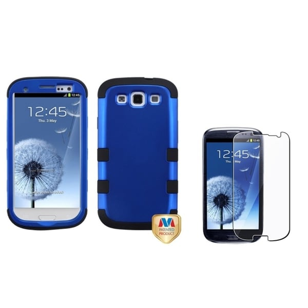 INSTEN TUFF Hybrid Phone Case Cover/ LCD Protector for Samsung Galaxy S3/ S III