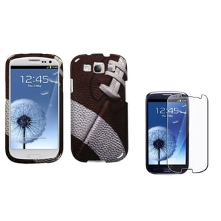 BasAcc Football Case/ Screen Protector for Samsung Galaxy S3 i9300