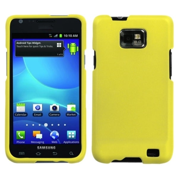 INSTEN Yellow Rubber Coated Protector Phone Case Cover for Samsung Galaxy S2 I777