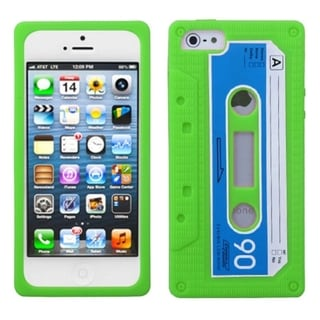 INSTEN Apple Green Retro Cassette Skin Phone Case Cover for Apple iPhone 5