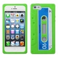 BasAcc Apple Green Retro Cassette Skin Case for Apple iPhone 5