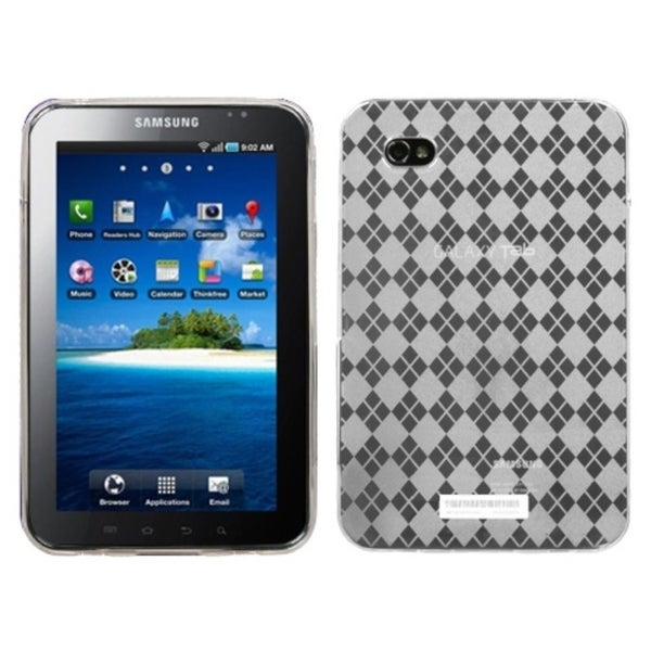 INSTEN Clear Argyle Candy Skin Tablet Case Cover for Samsung Galaxy Tab P1000