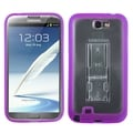 BasAcc Clear/ Purple Gummy Case for Samsung Galaxy Note 2 T889/ I605