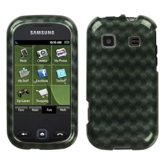 INSTEN Metal Plaid/ Silver Phone Case Cover for Samsung Trender M380