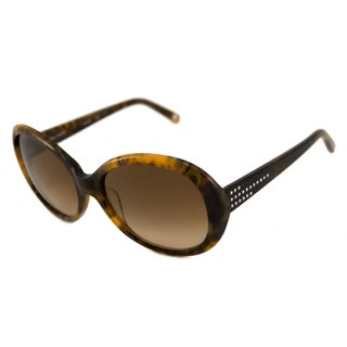 Nine West Women's NW503S Oval Blonde Tortoise/Brown Sunglasses