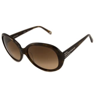 Nine West Women's NW503S Oval Tortoise/Brown Sunglasses