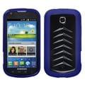 BasAcc Solid Black/ Dark Blue Gummy Case for Samsung Stellar I200