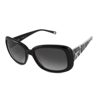 Nine West Women's NW510S Rectangular Black/Gray Sunglasses