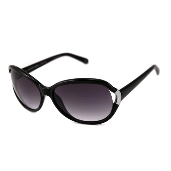 Calvin Klein Women's CK7773S Black Oval Sunglasses