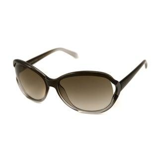 Calvin Klein Women's CK7773S Olive Fade/ Brown Gradient Oval Sunglasses